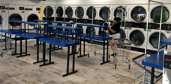 High Quality ... Sizes And Styles To Fit Laundromats, Hotel And Apartment Laundry Rooms.  Tu0026L Equipment Also Provides High Mark Manufacturing Tables And Chairs To  Offer ...